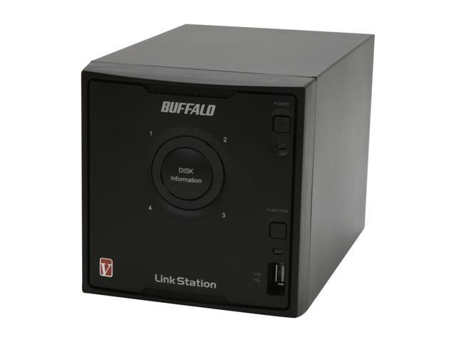 BUFFALO LinkStation Pro Quad 4-Bay 4 TB (4 x 1 TB) RAID High Performance Network Attached Storage (NAS) - LS-QV4.0TL/R5