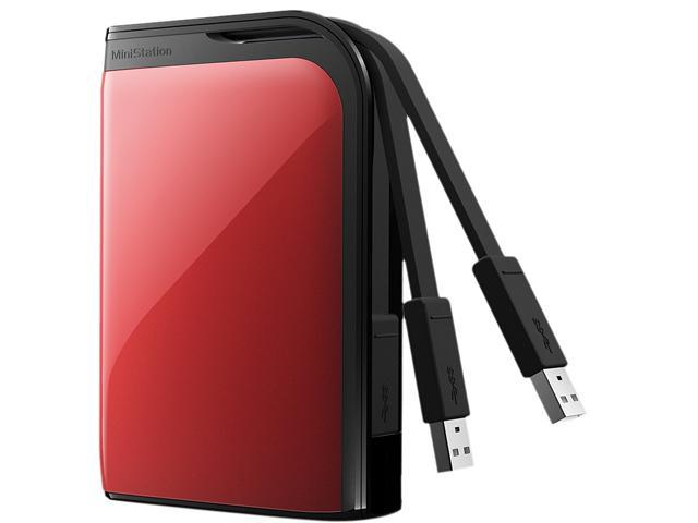 "BUFFALO MiniStation Extreme 500GB USB 3.0 2.5"" External Hard Drive Red"