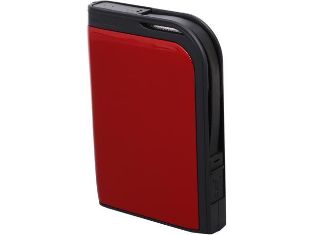 BUFFALO 1TB MiniStation Extreme External Hard Drive USB 3.0 Model HD-PZ1.0U3R Red