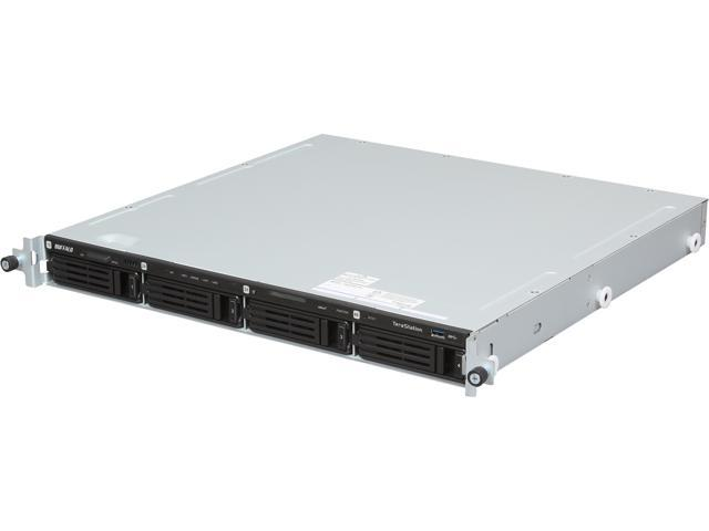 BUFFALO TeraStation 5400 4-Bay 12 TB (4 x 3 TB) RAID 1U Rack Mountable NAS & iSCSI Unified Storage - TS5400R1204