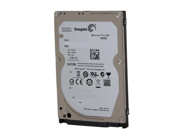 "Seagate Momentus Thin ST250LT014 250GB 7200 RPM 16MB Cache SATA 3.0Gb/s 2.5"" Internal Notebook Hard Drive Bare Drive"