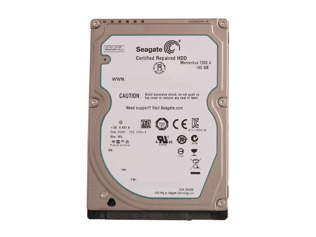 "Seagate Momentus 7200.4 ST9160412AS 160GB 7200 RPM 16MB Cache SATA 3.0Gb/s 2.5"" Internal Notebook Hard Drive Bare Drive"