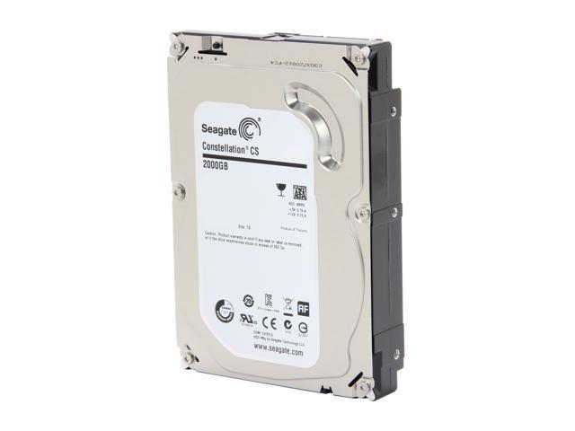 "Seagate Constellation CS ST2000NC001 2TB 7200 RPM 64MB Cache SATA 6.0Gb/s 3.5"" Enterprise Internal Hard Drive Bare Drive"