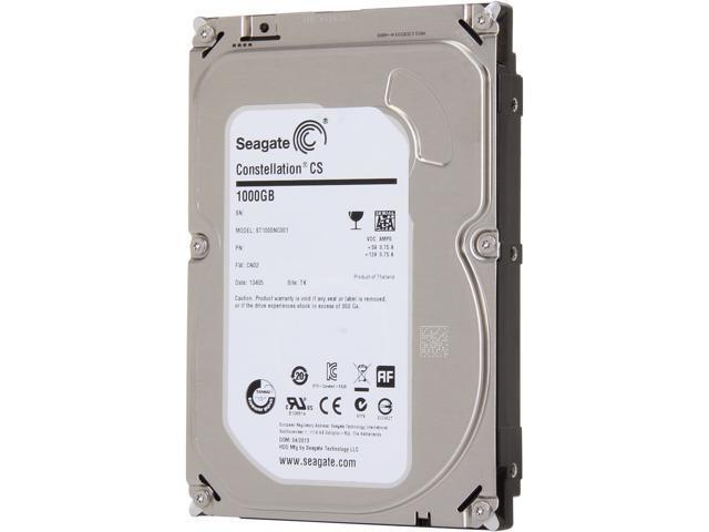 "Seagate Constellation CS ST1000NC001 1TB 7200 RPM 64MB Cache SATA 6.0Gb/s 3.5"" Enterprise Internal Hard Drive Bare Drive"