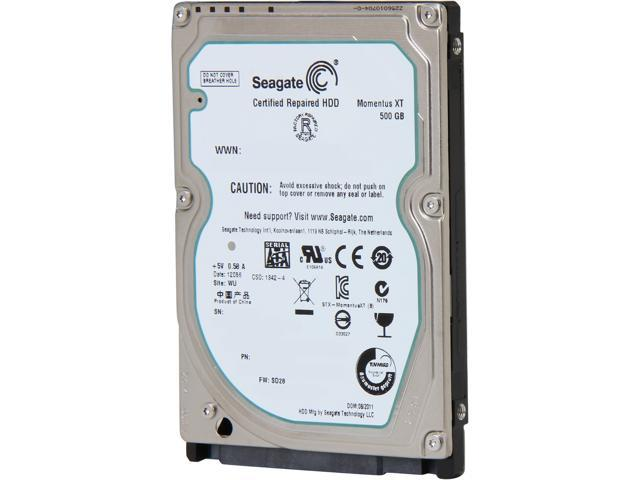 Seagate Momentus XT ST95005620AS 500GB 7200 RPM 32MB Cache SATA 3.0Gb/s 2.5