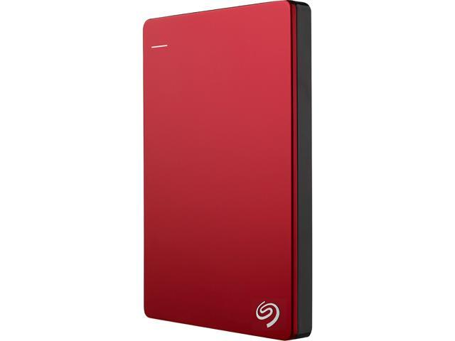 Seagate Backup Plus Slim 2TB Portable External Hard Drive with 200GB of Cloud Storage & Mobile Device Backup USB 3.0 - STDR2000103 (Red)