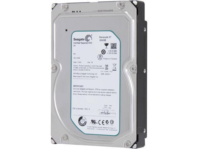 Seagate BarraCuda XT ST33000651AS 3TB 7200 RPM 64MB Cache SATA 6.0Gb/s 3.5