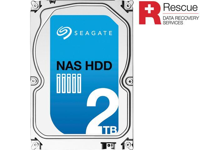 Seagate NAS HDD ST2000VN001 2TB 64MB Cache SATA 6.0Gb/s Internal Hard Drive + Rescue Data Recovery Services