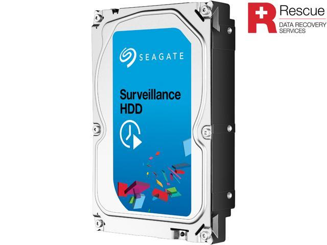 Seagate Surveillance HDD ST4000VX002 4TB 64MB Cache SATA 6.0Gb/s Internal Hard Drive + Rescue Data Recovery Services