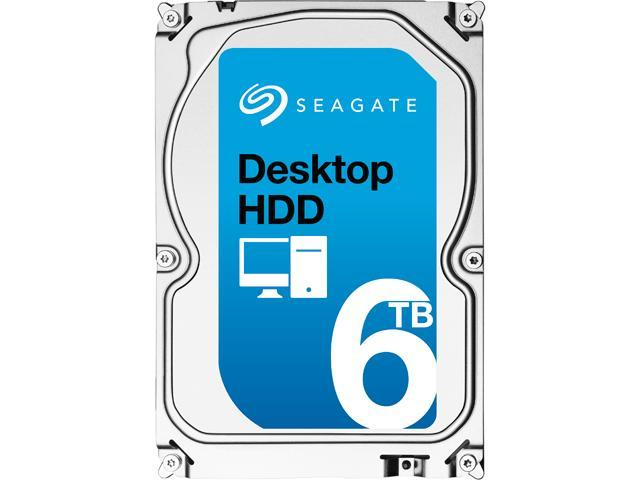 "Seagate Desktop HDD ST6000DM001 6TB 128MB Cache SATA 6.0Gb/s 3.5"" Internal Hard Drive Bare Drive"