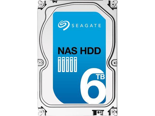 "Seagate NAS HDD ST6000VN0021 6TB 128MB Cache SATA 6.0Gb/s 3.5"" Internal Hard Drive Bare Drive"