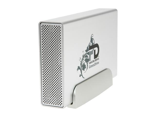 """Fantom Drives GreenDrive Quad Interface 2TB 3.5"""" USB 2.0 / eSATA / Firewire 400/800 External Hard Drive w/NTI SHADOW 4 Backup ..."""