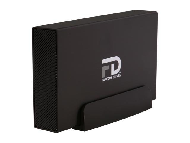 Fantom Drives Gforce/3 500GB USB 3.0 Aluminum Desktop External Hard Drive GF3B500U Black