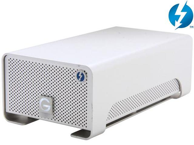 G-Technology G-RAID with Thunderbolt 0G02289 4TB 2 x Thunderbolt Silver Professional Portable Dual-Drive Storage System