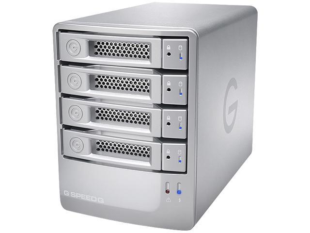 G-Technology G-SPEED Q 16TB USB 3.0 / 2 x Firewire800 / eSATA G-Speed Q 4-Bay Storage Array 0G02840 Silver