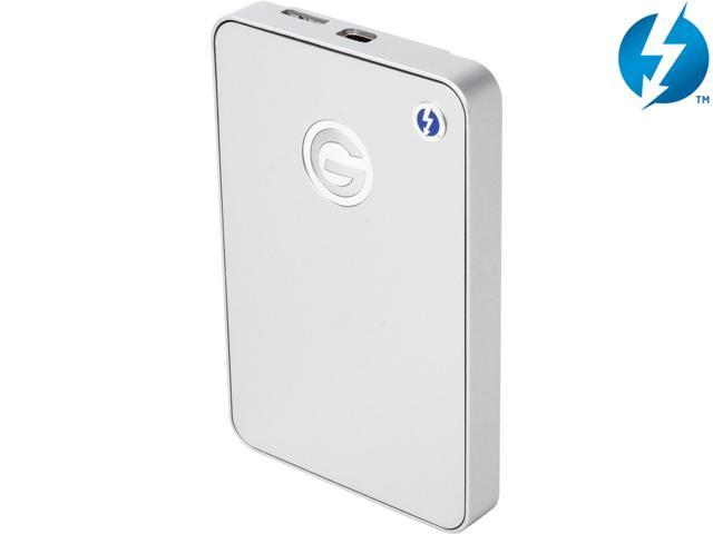 G-Technology 1TB G-DRIVE mobile Portable Hard Drive USB 3.0 / Thunderbolt Model 0G03040 Silver