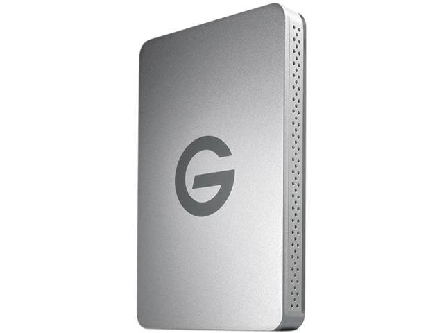 G-Technology 500GB G-DRIVE ev External Hard Drive Model 0G02727 Silver