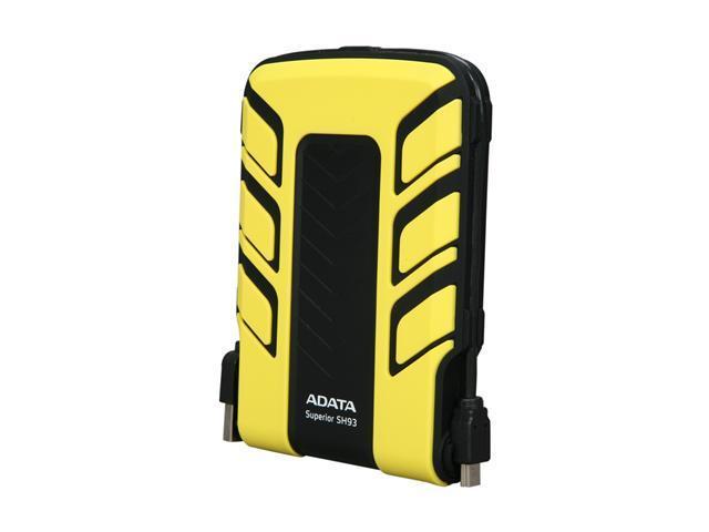 """ADATA 500GB USB 2.0 2.5"""" External Hard Drive Yellow"""