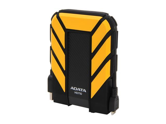 ADATA 1TB HD710 Waterproof / Dustproof / Shock-Resistant USB 3.0 External Hard Drive USB 3.0 Model AHD710-1TU3-CYL Yellow