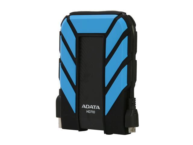 ADATA 1TB HD710 Waterproof / Dustproof / Shock-Resistant USB 3.0 External Hard Drive USB 3.0 Model AHD710-1TU3-CBL Blue