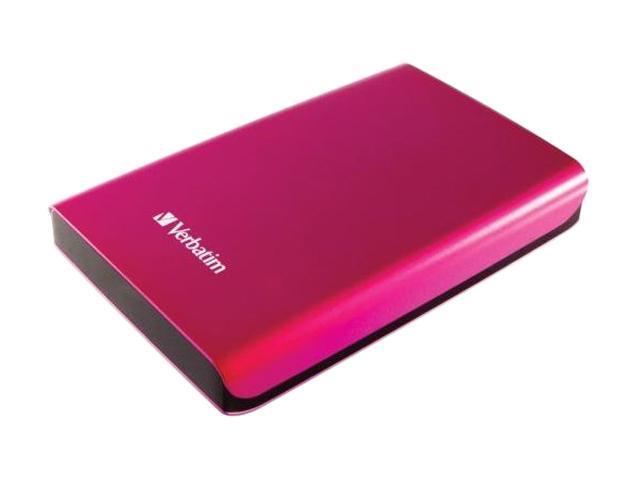 Verbatim 500GB Store n Go Portable Hard Drive USB 3.0 Model 97656 Hot Pink