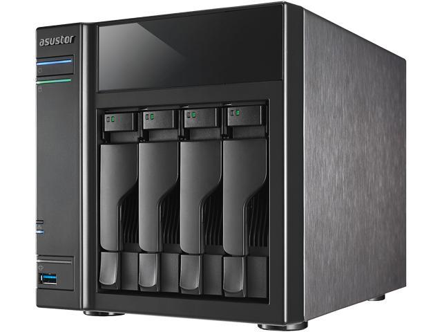 Asustor AS-204TE 4-Bay NAS, Intel ATOM Dual Core, 1 GB DDR3, GbE x 1, USB 3.0 & SATA III, WoL, System Sleep Mode