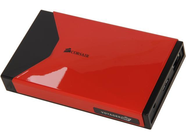 Corsair Voyager Air 500GB USB 3.0 / Ethernet / WiFi External Hard Drive CMFAIR-RED-500-NA Red