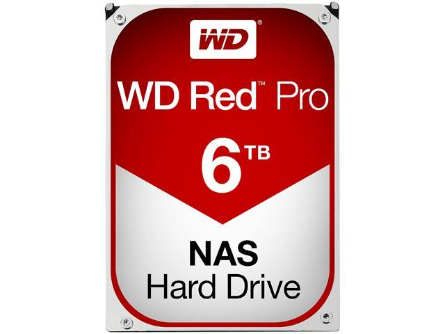 WD Red Pro 6TB NAS Desktop Hard Disk Drive - Intellipower SATA 6 Gb/s 128 MB Cache 3.5 Inch - WD6001FFWX