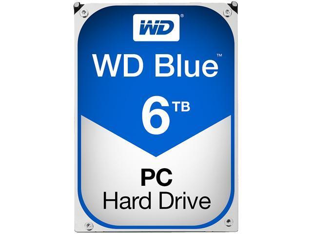 WD Blue 6TB Desktop Hard Disk Drive - 5400 RPM SATA 6Gb/s 64MB Cache 3.5 Inch - WD60EZRZ
