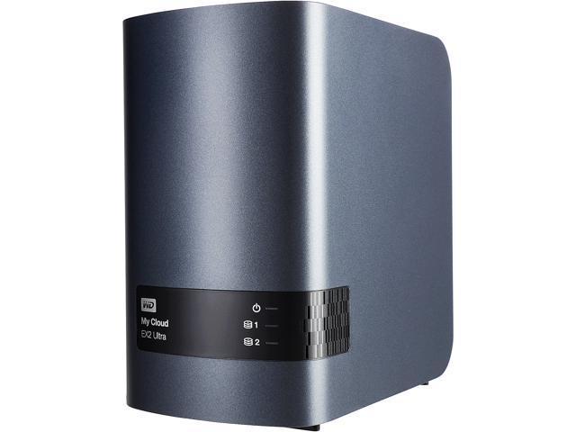WD My Cloud EX2 Ultra 16TB 2 x 3.5 inch hard drive bays, hot swap capable, tray-less design 16TB My Cloud EX2 Ultra 2-bay NAS WDBVBZ0160JCH-NESN Black