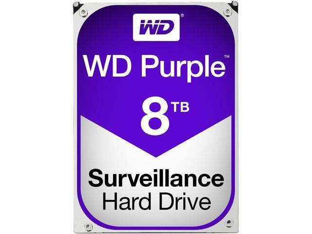 WD Purple 8TB Surveillance Hard Disk Drive - 5400RPM SATA 6Gb/s 128MB Cache 3.5 Inch - WD80PUZX