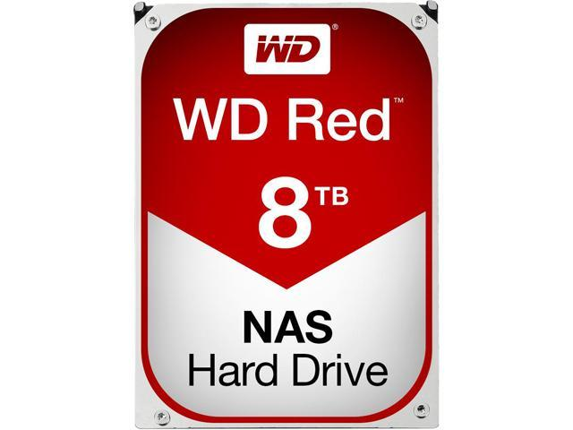 WD Red 8TB NAS Hard Disk Drive - 5400 RPM Class SATA 6Gb/s 128MB Cache 3.5 Inch - WD80EFZX