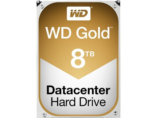 WD Gold 8TB Datacenter Hard Disk Drive - 7200 RPM Class SATA 6Gb/s 128MB Cache 3.5 inch - WD8002FRYZ