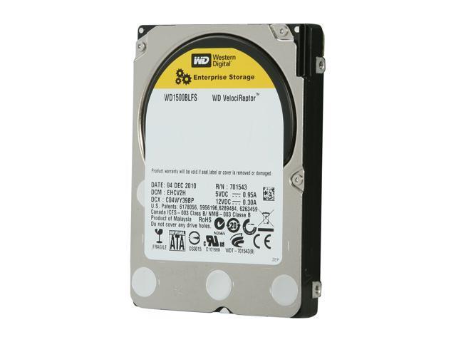 """WD WD VelociRaptor WD1500BLFS 10000 RPM 16MB Cache SATA 3.0Gb/s 2.5"""" Enterprise Hard Drive"""
