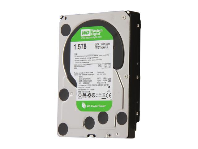 WD WD Green WD15EARX 1.5TB IntelliPower 64MB Cache SATA 6.0Gb/s 3.5