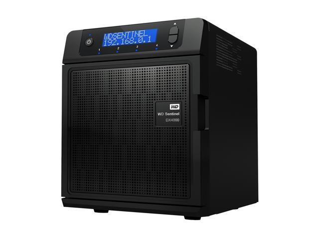 WD Sentinel DX4000 12TB (4x3TB) Small Business Storage Server NAS  WDBLGT0120KBK-NESN