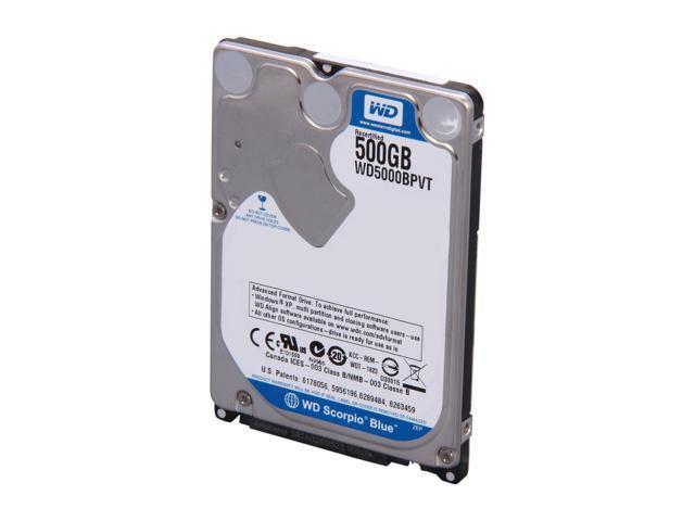 WD Scorpio Blue WD5000BPVT-FR 500GB 5400 RPM 8MB Cache SATA 3.0Gb/s 2.5