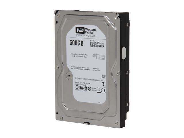 "WD Blue WD5000AAKX-FR 500GB 7200 RPM 16MB Cache SATA 6.0Gb/s 3.5"" Internal Hard Drive Bare Drive"