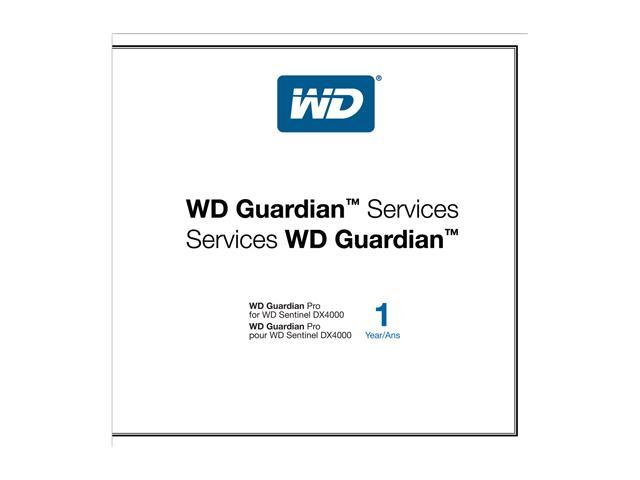 WD WDBLKF0000NNC-NASN Guardian Pro 1 Year Plan For WD Sentinel DX4000
