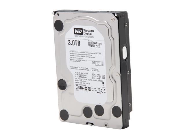 WD Green WD30EZRX 3TB IntelliPower 64MB Cache SATA 6.0Gb/s 3.5