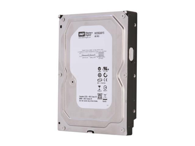 "WD RE3 WD2502ABYS 250GB 7200 RPM 16MB Cache SATA 3.0Gb/s 3.5"" Internal Hard Drive Bare Drive"