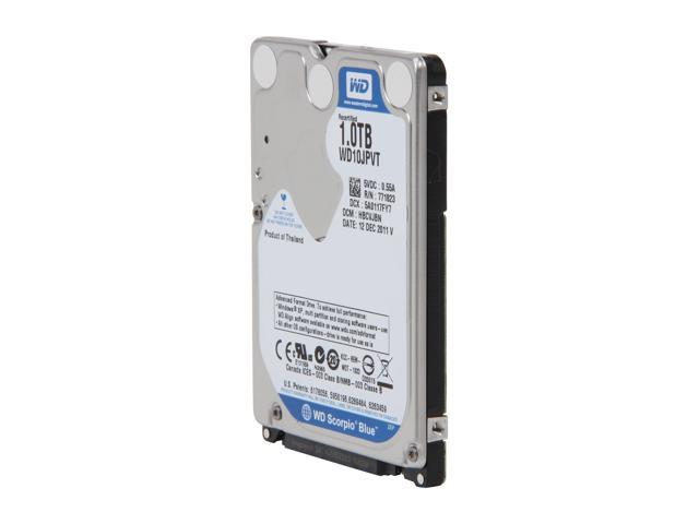 "WD Scorpio Blue WD10JPVT 1TB 5400 RPM 8MB Cache SATA 3.0Gb/s 2.5"" Internal Notebook Hard Drive -Manufacture Recertified Bare ..."