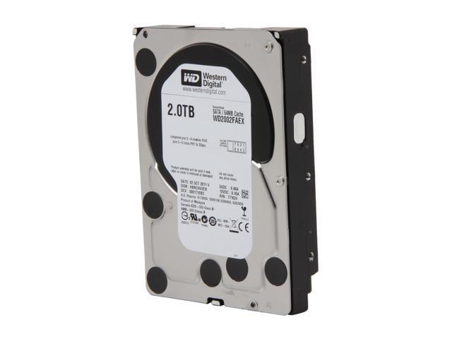 WD Black WD2002FAEX 2TB 7200 RPM 64MB Cache SATA 6.0Gb/s 3.5