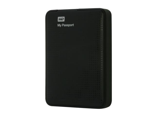 WD 750GB My Passport Portable Hard Drive USB 3.0 Model WDBBEP7500ABK-NESN Black