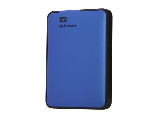 WD 500GB My Passport External Hard Drive USB 3.0 Model WDBKXH5000ABL-NESN Blue