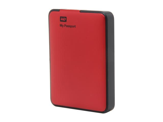 WD 1TB My Passport External Hard Drive USB 3.0 Model WDBBEP0010BRD-NESN Red