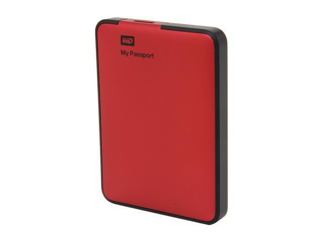 WD 500GB My Passport External Hard Drive USB 3.0 Model WDBKXH5000ARD-NESN Red