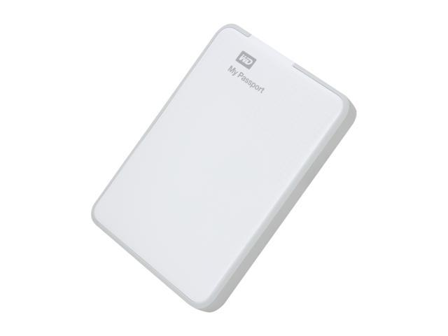 WD 500GB My Passport External Hard Drive USB 3.0 Model WDBKXH5000AWT-NESN White