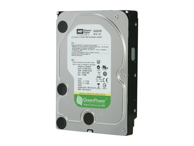 "WD AV-GP WD20EURS 2TB 64MB Cache SATA 3.0Gb/s 3.5"" Internal Hard Drive -Manufacture Recertified Bare Drive"