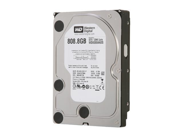 "WD WD Green WD8088AADS 808.8GB 32MB Cache SATA 3.0Gb/s 3.5"" Internal Hard Drive Bare Drive"